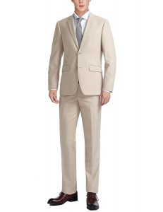 mens tan suits beach wedding