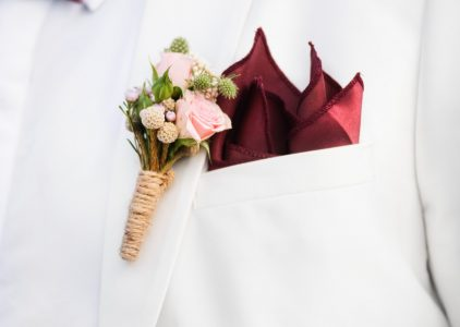 white linen suit for beach wedding